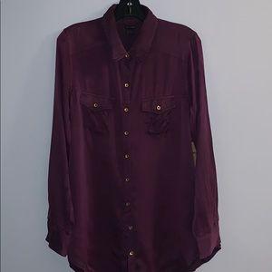 100% silk True Religion Button Down